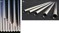 (a) Thermocouple sheaths of different diameter, ACT® coated with a platinum-rhodium alloy;                             (b) Fabricated thermocouple sheaths made from grain stabilised platinum-rhodium alloy